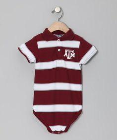 Take a look at this Texas A&M Aggies Polo Bodysuit - Infant by Sara Lynn Togs on #zulily today!