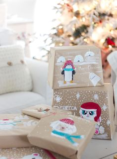 handpainted gift wrap craftberrybush-4