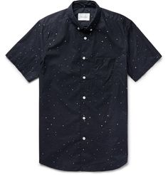 This <a href='http://www.mrporter.com/en-us/mens/designers/steven_alan'>Steven Alan</a> shirt is constructed from lightweight cotton-poplin using the brand's signature single-needle stitching for a clean finish. Cut in a slim but not restricting silhouette, it's detailed with a paint-splatter motif that's inspired by the galaxy. Build a smart weekend look with jeans and sneakers.