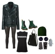 """""""Freedom"""" by perpetto ❤ liked on Polyvore featuring Yves Saint Laurent, BLK DNM, Dr. Martens, Halston Heritage, The Row, 8 and STELLA McCARTNEY"""