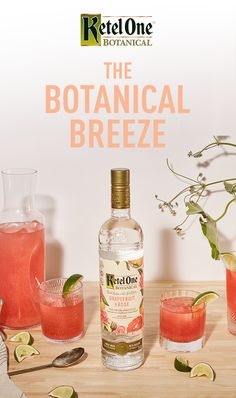Take in the fresh summer air with a Botanical Breeze cocktail in hand. This tasty coc . Vodka Cocktails, Cocktail Drinks, Cocktail Recipes, Peach Vodka Drinks, Flavored Vodka Drinks, Martinis, Dinner Recipes, Summer Drinks, Fun Drinks