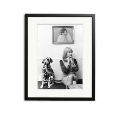 English pop singer Marianne Faithfull with her pet Dalmatian, 1964.