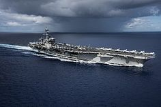 The Nimitz-class aircraft carrier USS Carl Vinson (CVN 70) transits the Philippine Sea while conducting a bilateral exercise with the Japan Maritime Self-Defense Force.