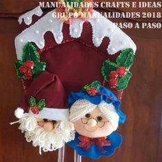 Cris Silva Gingerbread, Christmas Crafts, Bubbles, Santa, Diy, Ideas Para, Facebook, Cloth Doll Making, Door Hangings