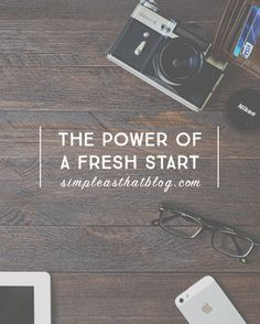 As the new school year approaches, have you started thinking about how you can live HAPPIER this year? Capitalize on the power of a fresh start.