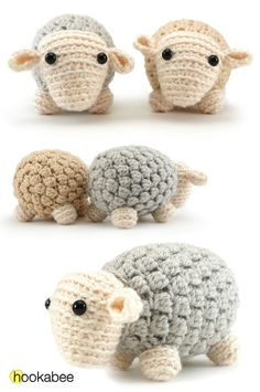 BAA! What better way to use up some of your wool than with a sheep! Or, even better, a whole herd of them. Andy the sheep's body is constructed with fun bobble stitches, giving him some grea…