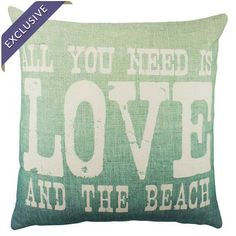 Bring a charming touch to your sofa or favorite reading nook with this handmade cotton pillow, featuring a beach-themed typographic motif. Crafted in the USA...