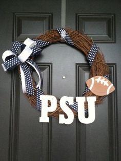 Penn State Wreath PSU PSU Football Wreath Penn by TheWreathMomma, $35.00