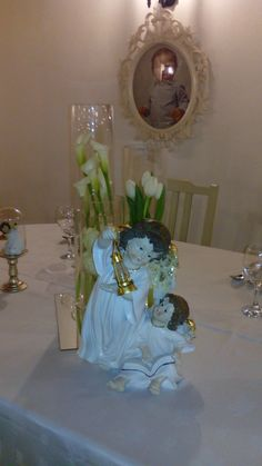 Angel Decor christening party Batizado Decoração Anjos