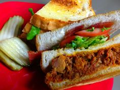 A pulled pork and BLT sandwich together?  We call it THE BIG SWINE.