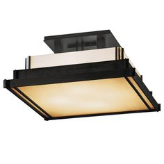 Hubbardton Forge 123705 4 Light Semi-Flush Ceiling Fixture from the Steppe Colle Black Indoor Lighting Ceiling Fixtures Semi-Flush
