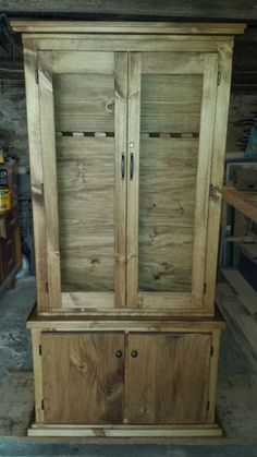 Gun cabinet with a secret. Check out our latest Gun Cases here- http://www.ogbroker.com/home.php?cat=4990
