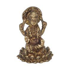 Amazon.com - DakshCraft Goddess Small Laxmi Brass Statue -