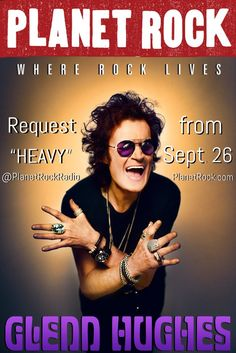 """Look out for @glennhughes new single """"HEAVY"""" just added to the Playlist @ http://www.PlanetRock.com from Sept 26 ✌️"""