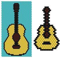 Guitar Set by Pamela Welborn AKA Violetbead
