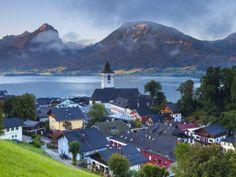 Lake Wolfgangsee, Austria | St. Wolfgang, Wolfgangsee Lake, Flachgau, Upper Austria, Austria ...