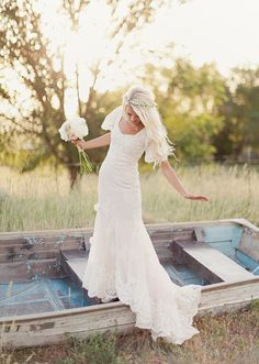 My dream wedding dress, just add buttons down the back and a little fuller skirt and its absolutely perfect.