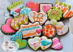 Whimsical Valentine Platter by Cadillac Cookies