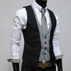 Interesting double vest but I kind of like it.