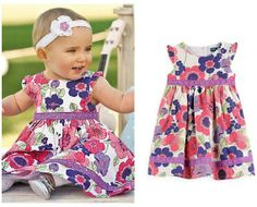 DQ0052 Free shipping top quality girls dress summer girl dresses cotton kids clothing fit age 2-6 years wholesale and retail