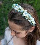 Diadema Niña Flores Azul
