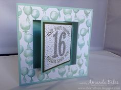 The Craft Spa - Stampin' Up! UK independent demonstrator : Balloon Celebration Pop Out Swing Card