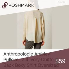 Ardsley Chiffon Back Top Small NWT Anthropologie Tops Blouses