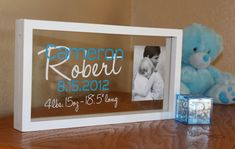 Hey, I found this really awesome Etsy listing at http://www.etsy.com/listing/109579290/personalized-baby-photo-name-frame