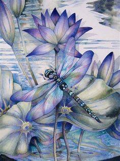 Dragonfly Painting - looks like Jody Bergsma
