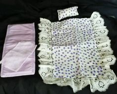 Barbie white/purple Floral Pattern Bed Spread BLANKET Pillow Pad Towel Bedding  #Mattel