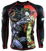 Meerkatsu Heavenly Wristlock Rashguard @ The Jiu Jitsu Shop @ www.thejiujitsushop.com Free shipping BJJ Gear