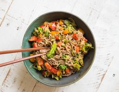 It's finally here: my recipe for 10-Minute Drunken Teriyaki Noodle Stir Fry! This plant-powered gluten-free noodle recipe is total comfort food while still being wonderfully nourishing and easy enough for the busiest of weeknights. It's a no-fuss way to satisfy your takeout cravings while still doing something wonderful for your body.