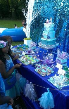 "Photo 3 of 77: Mermaid / Birthday ""Glitzy Mermaid Lagoon"" 
