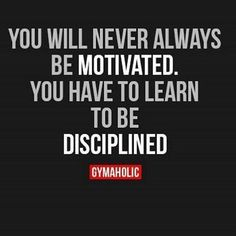 Discipline. Have some or find some. http://www.jekyllhydeapparel.com