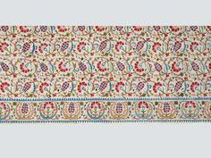 """Embroidered cover (detail), Istanbul, 16th/early 17th century. TM 1.22. Acquired by George Hewitt Myers. ___ From the exhibition """"The Sultan's Garden: The Blossoming of Ottoman Art"""" at the Textile Museum, Washington DC"""