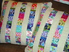 Scrappy Linen Pillows