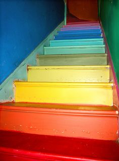 Rainbow stairs. Rainbow anything, really.