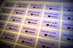 50 Rustic Handmade with Love stickers by ForSpecialOccasions