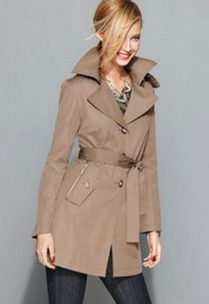 Women's beautiful lighter brown trench coat that I love