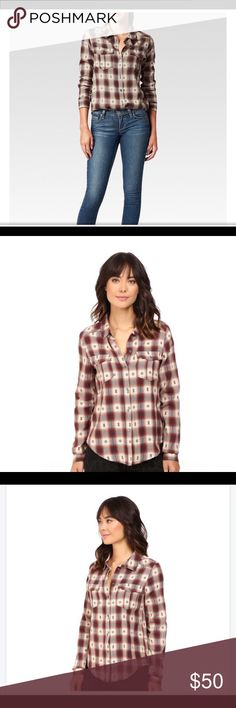 NWT PAIGE Denim Button Down Button-up shirt fabricated in a soft, lightweight cotton plaid. Relaxed, drapey fit. Pointed collar. Front placket with full-button closure. Two five-point chest pockets with functional button-flap closure. Long sleeves rock a button cuffs for a personalized fit. Shirttail hem. 100% cotton. Machine wash cold, tumble dry low. Imported. Product measurements were taken using size SM. Please note that measurements may vary by size. Measurements: Length: 29 in PAIGE…