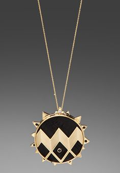 "House of Harlow ""Zig Zag Starburst"" necklace, $125"