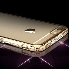 Luxury Bling Electroplating Diamond cell phone cases for iphone 6 6s 6 plus 6s plus with three rows Rhinestone capa back covers | iPhone Covers Online