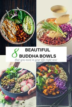 I am a big fan of Buddha Bowls. They are easy to make, visually appealing and super healthy. What is not to like! I have put together this collection of 8 beautiful Buddha Bowls that you need in your life right now.