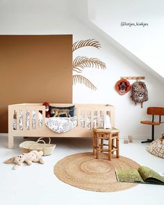 Some things sparkle without the glitter Baby Room Design, Nursery Design, Baby Room Decor, Nursery Room, Kids Bedroom, Big Girl Rooms, Baby Boy Rooms, Safari Room, Brown Accent Wall