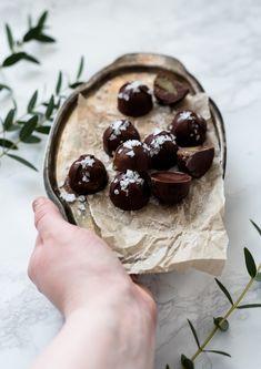 Raw Chocolates + Roasted Pumpkin Seed Butter + Sea Salt