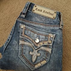 ROCK REVIVAL I bought these and they are just a little to big. Looking for a  size 24 to buy. NO TRADES Rock Revival Jeans Boot Cut