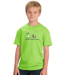 Golf With Jesus Is Better Youth Tee on SonGear.com
