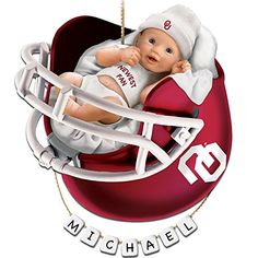 University of Oklahoma Sooners Personalized Babys First Christmas Ornament by The Bradford Exchange *** Check this awesome product by going to the link at the image. (This is an affiliate link)