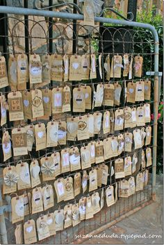 craft, escort cards, place cards, tag, jewelry displays, garden gates, display idea, card displays, old gates