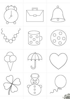Art Drawings For Kids, Drawing For Kids, Easy Drawings, Colouring Pages, Coloring Pages For Kids, Beaded Embroidery, Embroidery Patterns, Diy Quiet Books, Simple Cartoon